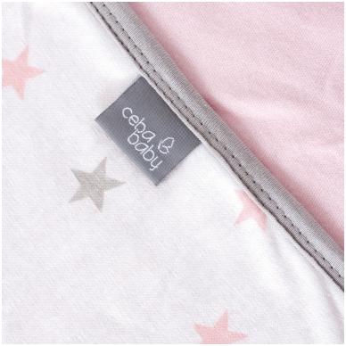 Pledas Jersey 90x100 rožinis - žvaigždutės 2