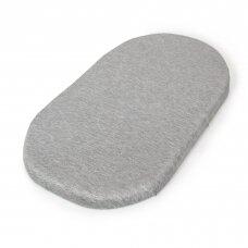 CebaBaby paklodės su guma vežimėlio čiužiniui, pilkos, 2 vnt