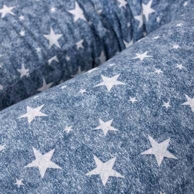 Maitinimo pagalvė dżersej DUO, džinsai, mėlyna, žvaigždutės 2