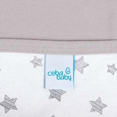 CebaBaby pledas Jersey 90x100 pilkos - žvaigždės, pilkas 2