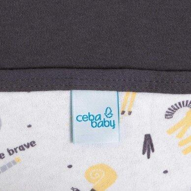 CebaBaby pledas Jersey 90x100, drambliukas, tamsiai pilkas 2