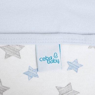 CebaBaby pledas Jersey 90x100 mėlynos - žvaigždės, mėlynas 2