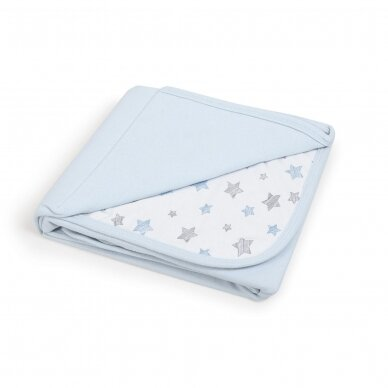 CebaBaby pledas Jersey 90x100 mėlynos - žvaigždės, mėlynas