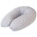 Maitinimo pagalvė dżersej, MULTI (190x35), taškiukai