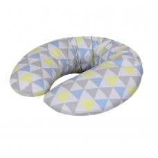 Maitinimo pagalvė dżersej, MINI (180x33), trikampiai