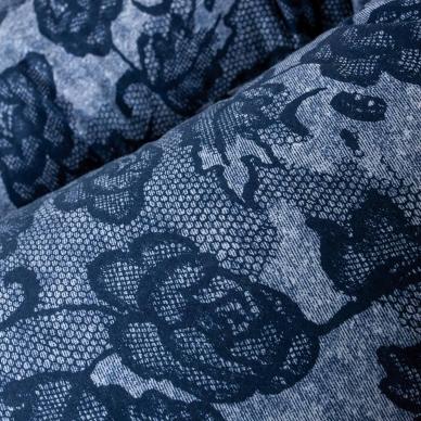 Maitinimo pagalvė MULTI, džinsai, mėlyna, gėlytės 2