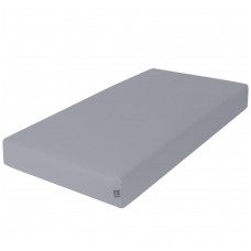 Paklodė su guma jersey, 120x60, tamsiai pilka