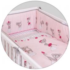 Patalynės komplektas 3 dalių,  kačiukai, rožinė