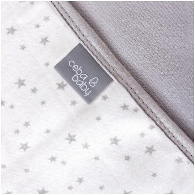 Pledas Jersey 90x100 pilkas - žvaigždutės 2