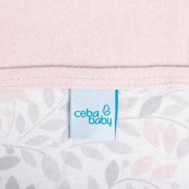 CebaBaby pledas Jersey 90x100 rožinis - šakelės 2