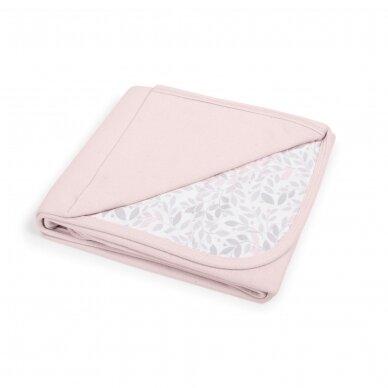 CebaBaby pledas Jersey 90x100 rožinis - šakelės