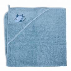 Rankšluostis su gobtuvu 100x100 mėlynas, ryklys