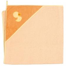 Rankšluostis su gobtuvu 100x100 oranžinis, ančiukas