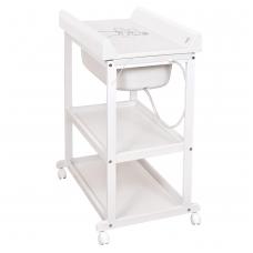 """Vystymo stalas  """"Laura"""" meškinas, baltas – medinis"""
