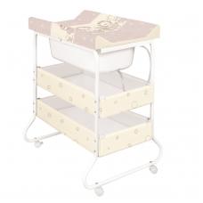 """Vystymo stalas  """"Susi"""" ančiukai, rudas – metalinis"""